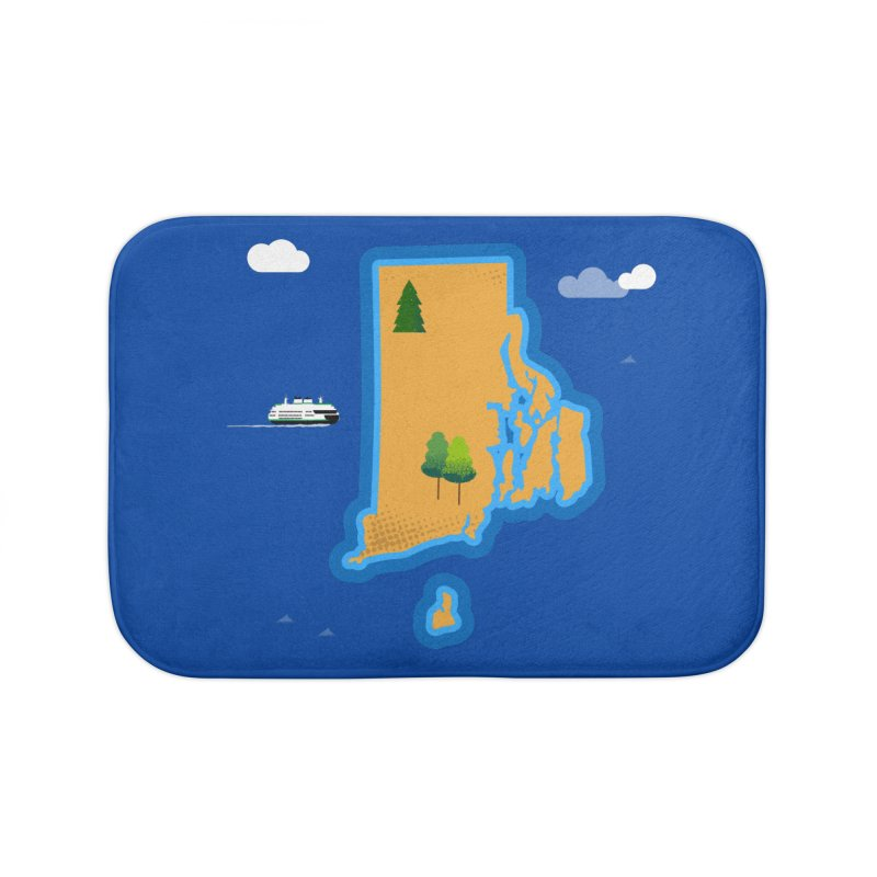 Rhode Island island Home Bath Mat by Illustrations by Phil