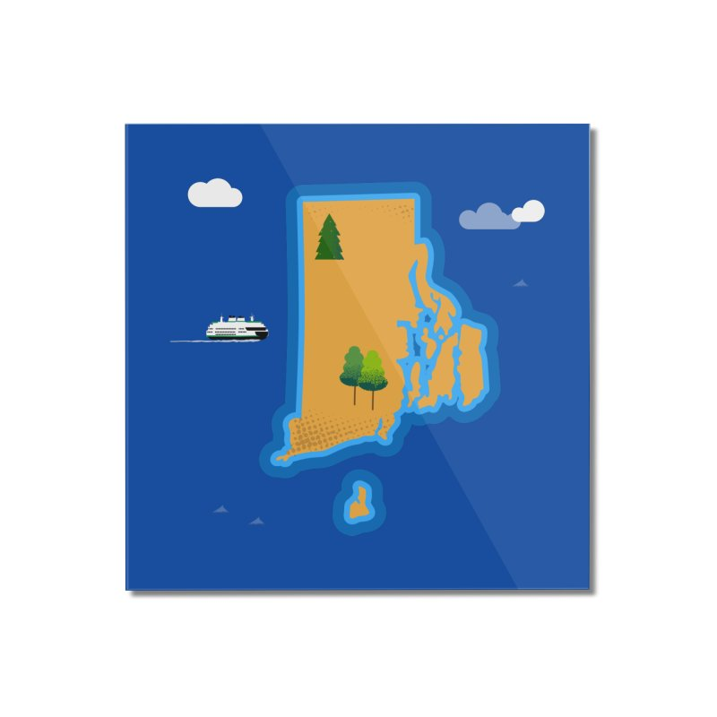 Rhode Island island Home Mounted Acrylic Print by Illustrations by Phil