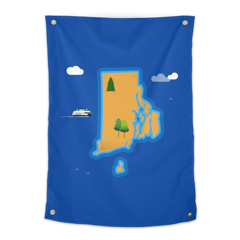 Rhode Island island Home Tapestry by Illustrations by Phil