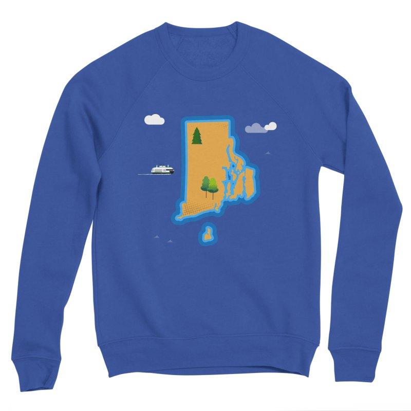 Rhode Island island Men's Sweatshirt by Illustrations by Phil