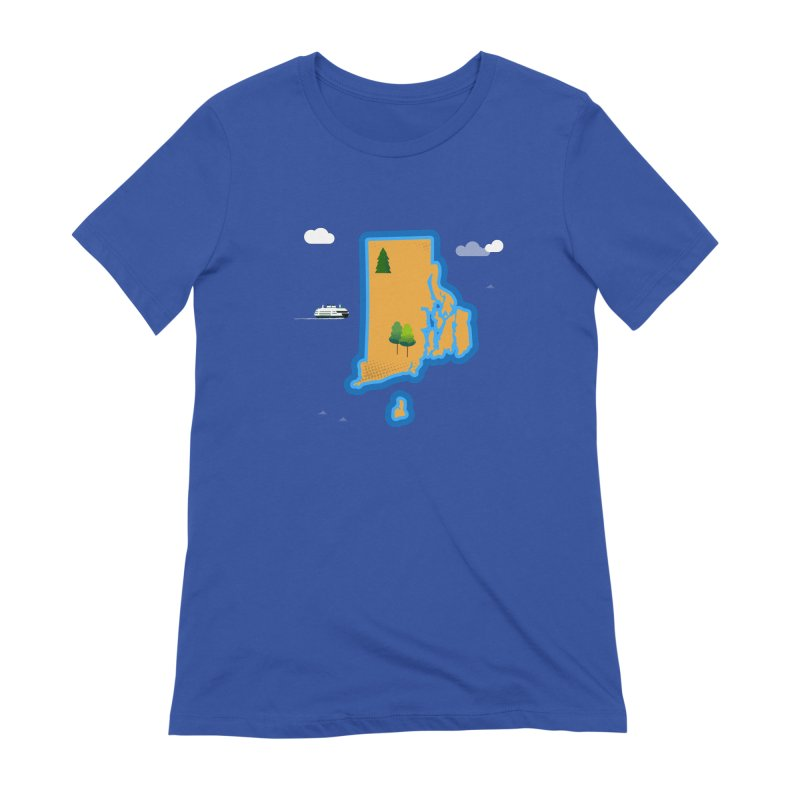 Rhode Island island Women's Extra Soft T-Shirt by Illustrations by Phil