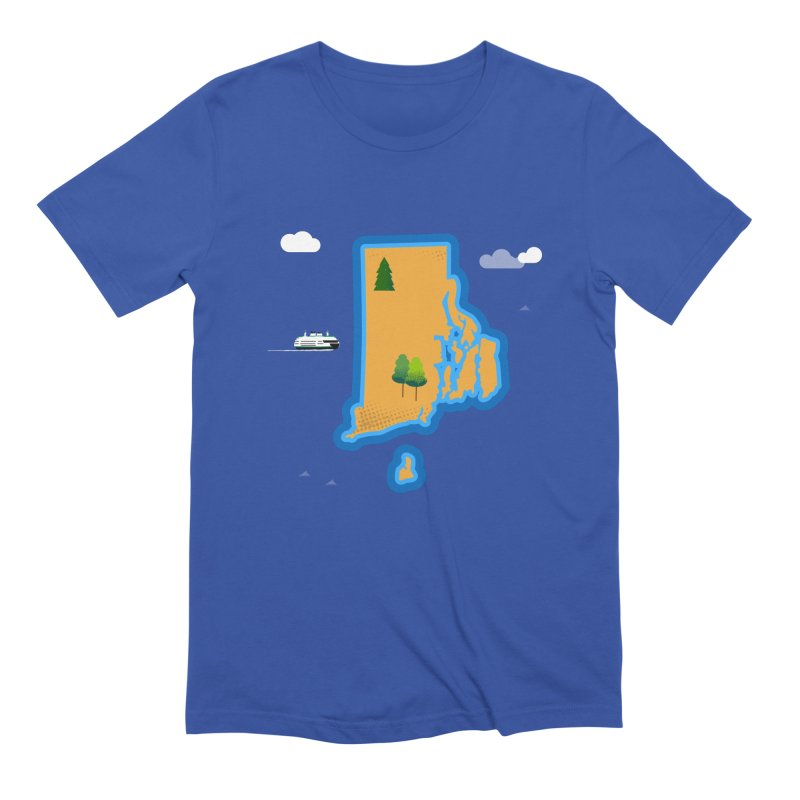 Rhode Island island Men's Extra Soft T-Shirt by Illustrations by Phil