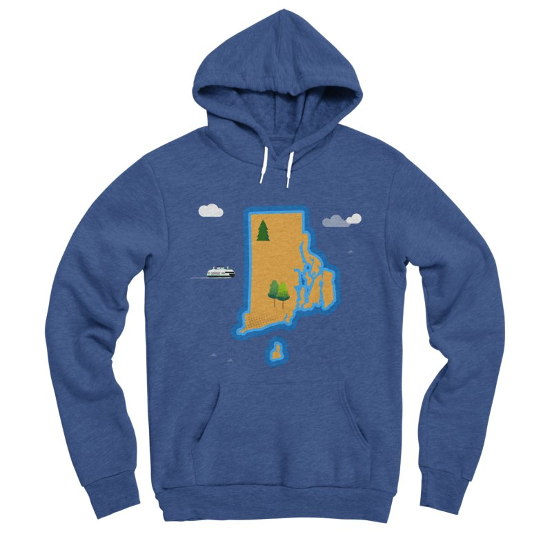 Rhode Island island Men's Sponge Fleece Pullover Hoody by Illustrations by Phil