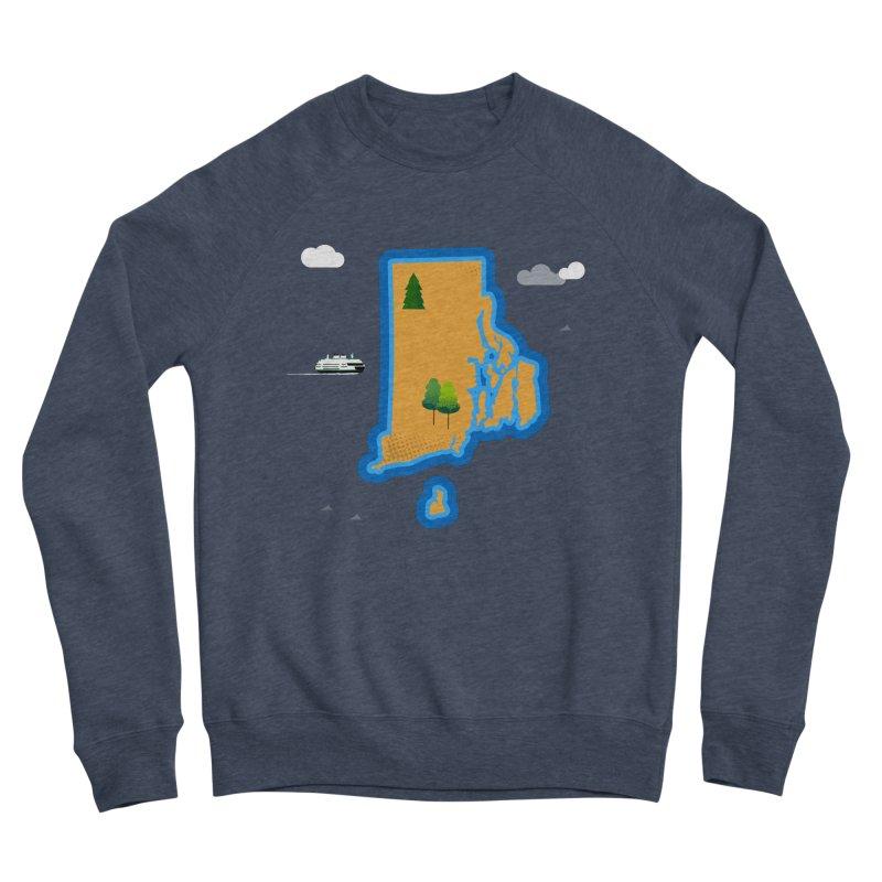 Rhode Island island Men's Sponge Fleece Sweatshirt by Illustrations by Phil