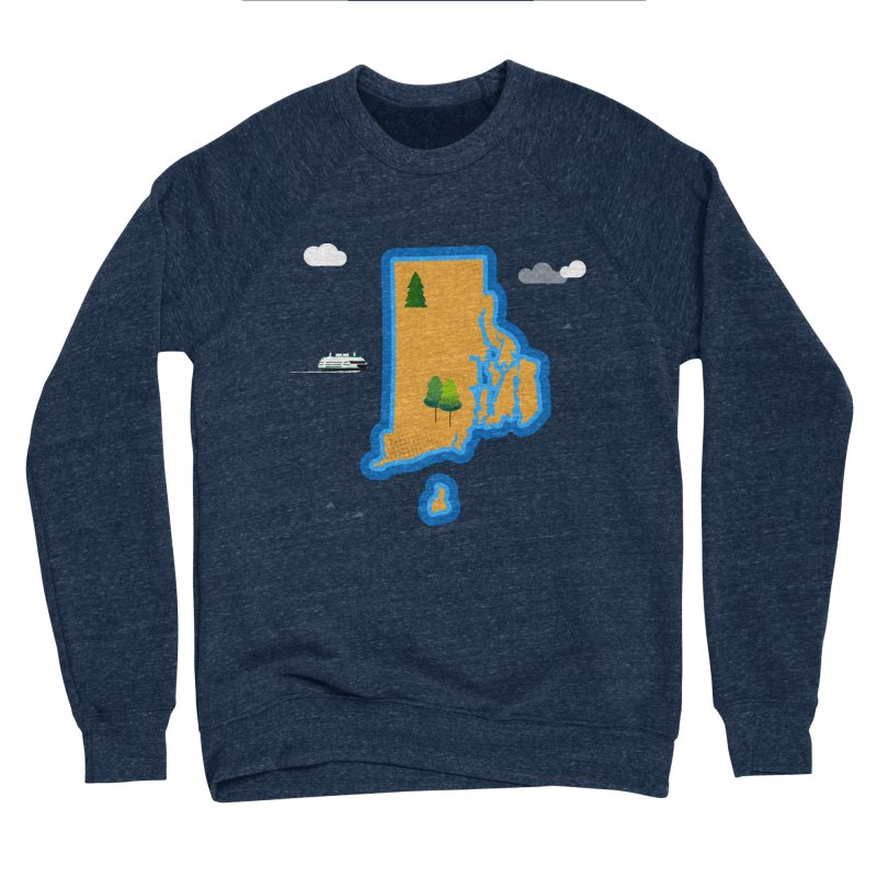 Rhode Island island Men's Sponge Fleece Sweatshirt by Illustrations by Phil