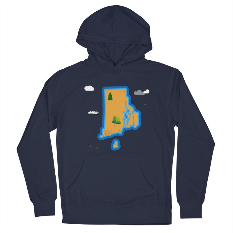 Rhode Island island Women's French Terry Pullover Hoody by Illustrations by Phil