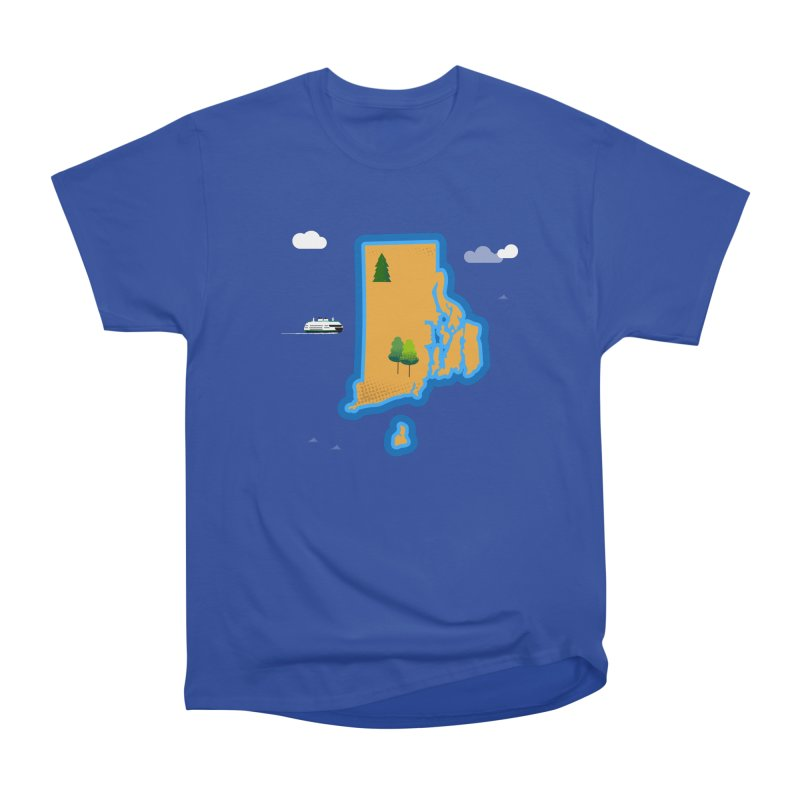 Rhode Island island Men's Heavyweight T-Shirt by Illustrations by Phil