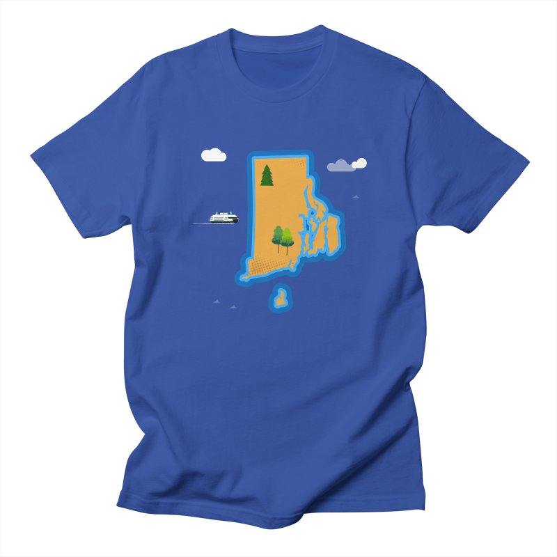 Rhode Island island Men's Regular T-Shirt by Illustrations by Phil