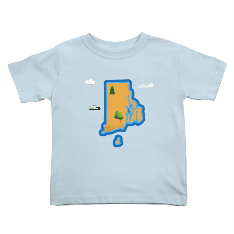 Rhode Island island Kids Toddler T-Shirt by Illustrations by Phil
