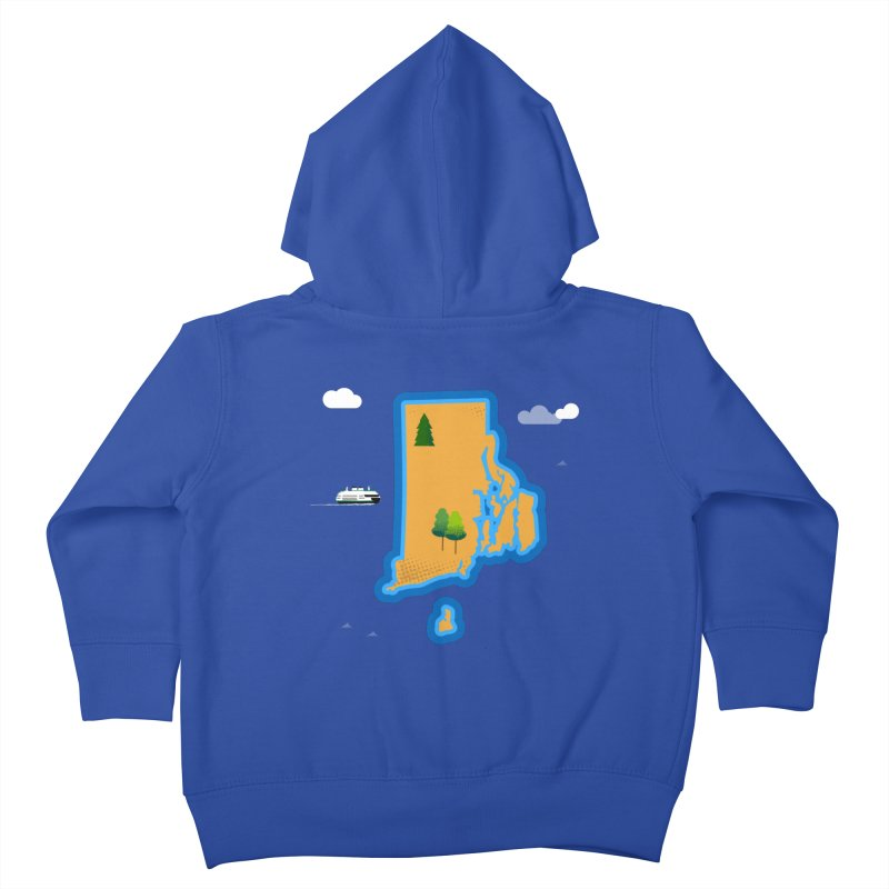 Rhode Island island Kids Toddler Zip-Up Hoody by Illustrations by Phil