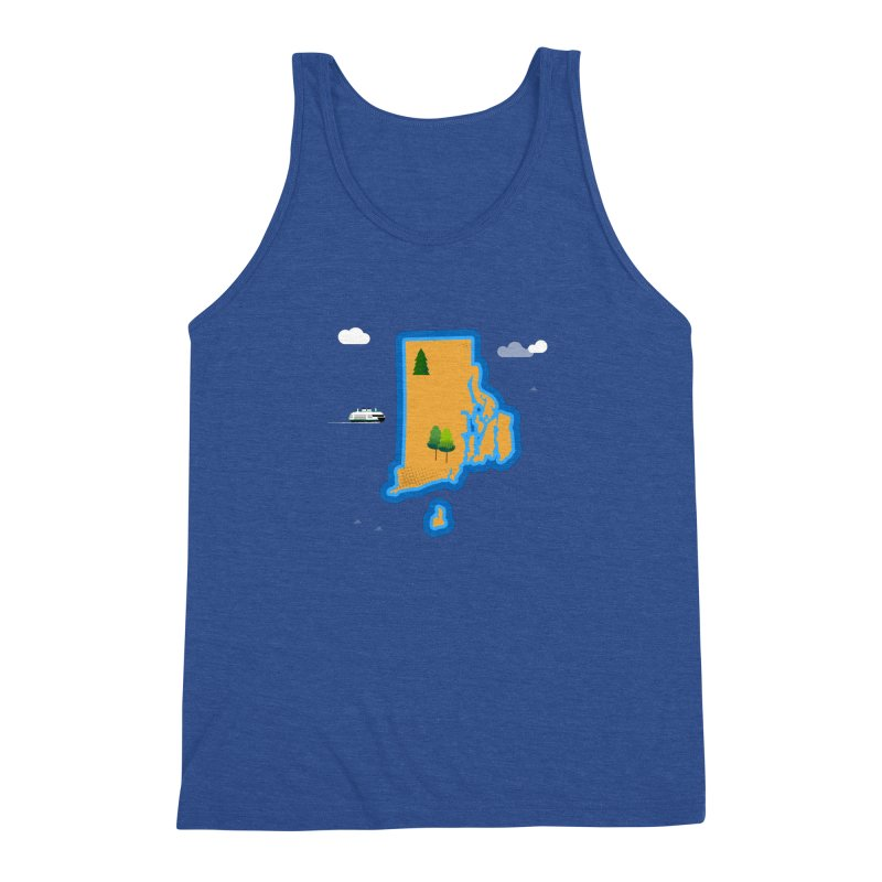 Rhode Island island Men's Tank by Illustrations by Phil