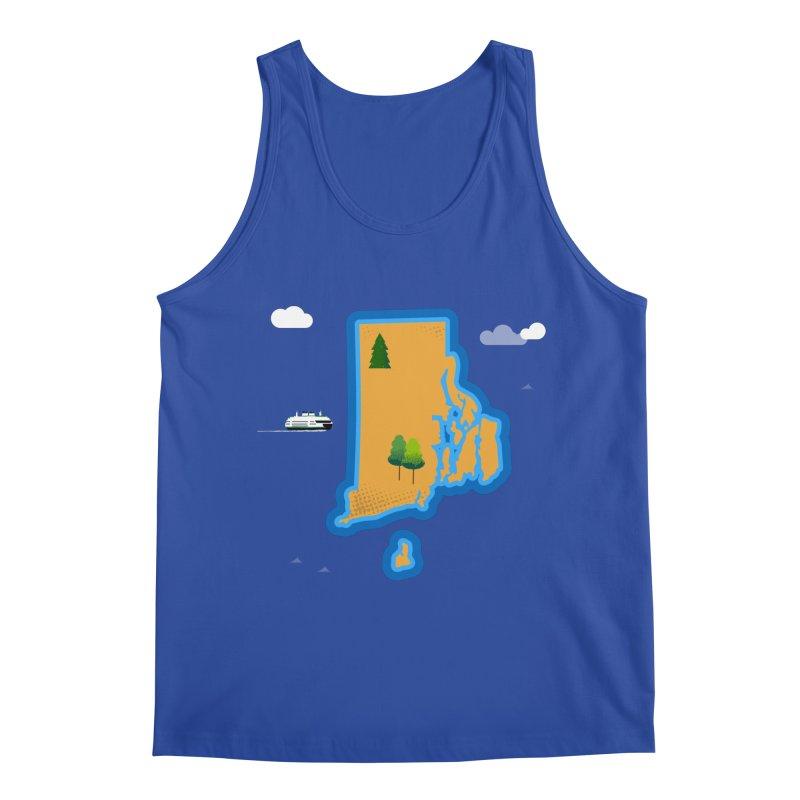Rhode Island island Men's Regular Tank by Illustrations by Phil