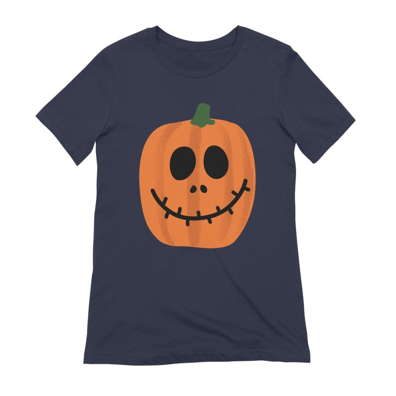 Happy Pumpkin Women's Extra Soft T-Shirt by Illustrations by Phil