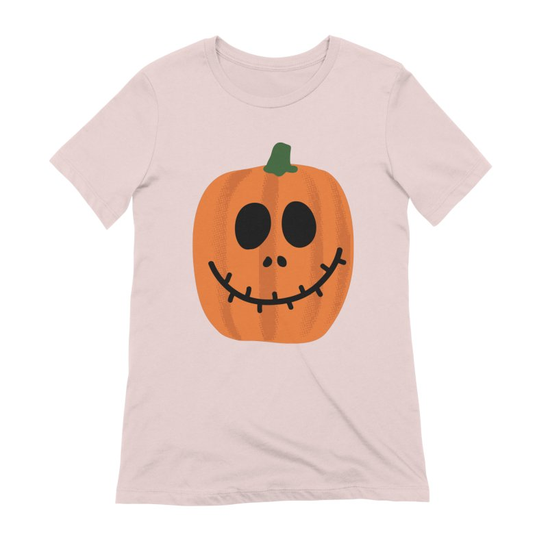 Happy Pumpkin Women's T-Shirt by Illustrations by Phil