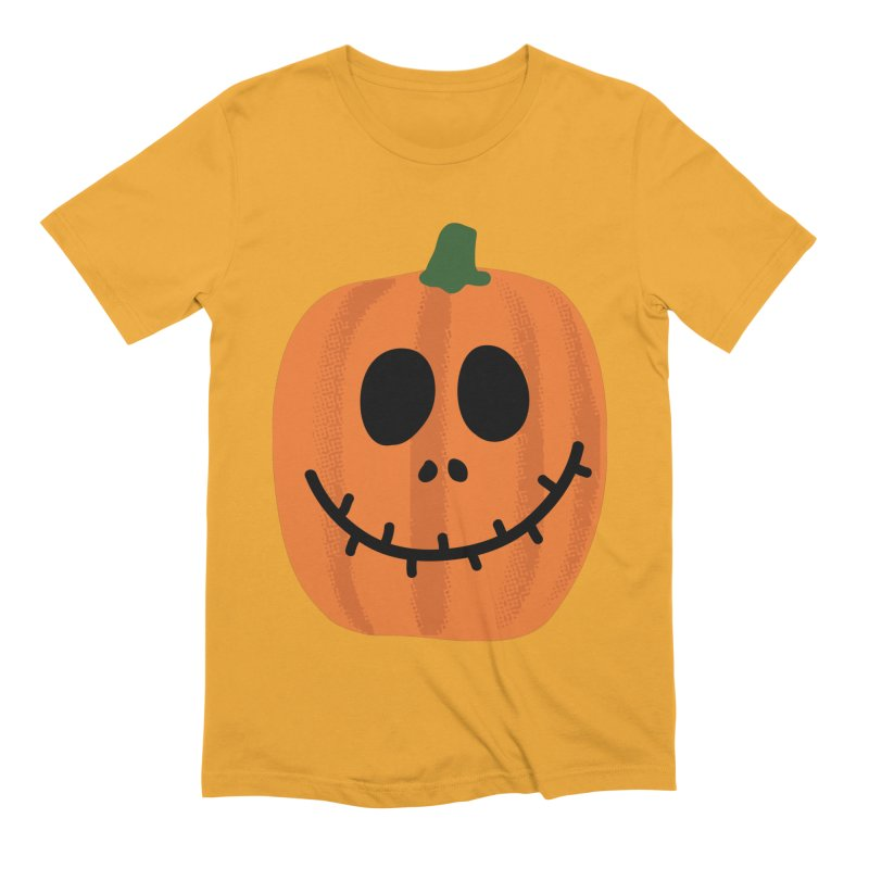 Happy Pumpkin Men's Extra Soft T-Shirt by Illustrations by Phil