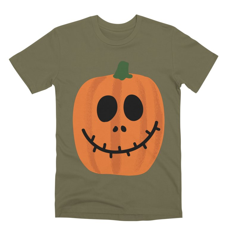 Happy Pumpkin Men's Premium T-Shirt by Illustrations by Phil