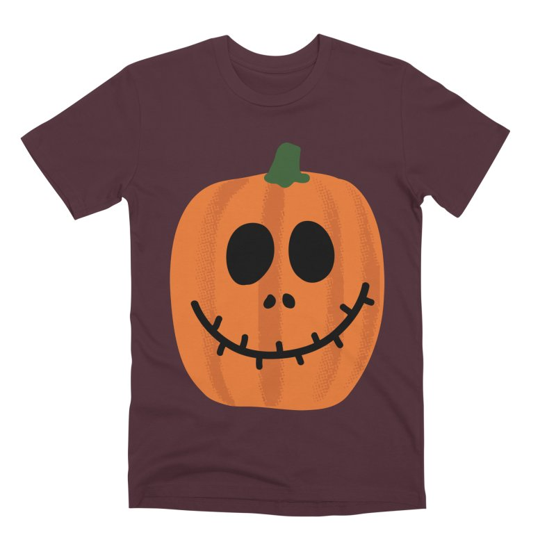 Happy Pumpkin Men's Premium T-Shirt by Illustrations by Phil