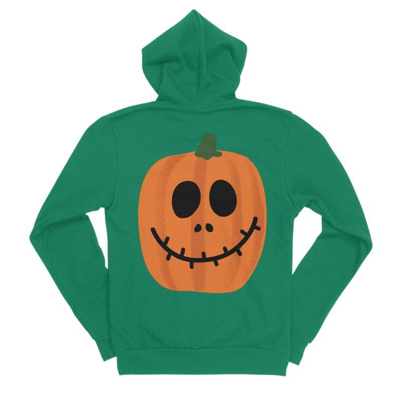 Happy Pumpkin Women's Sponge Fleece Zip-Up Hoody by Illustrations by Phil