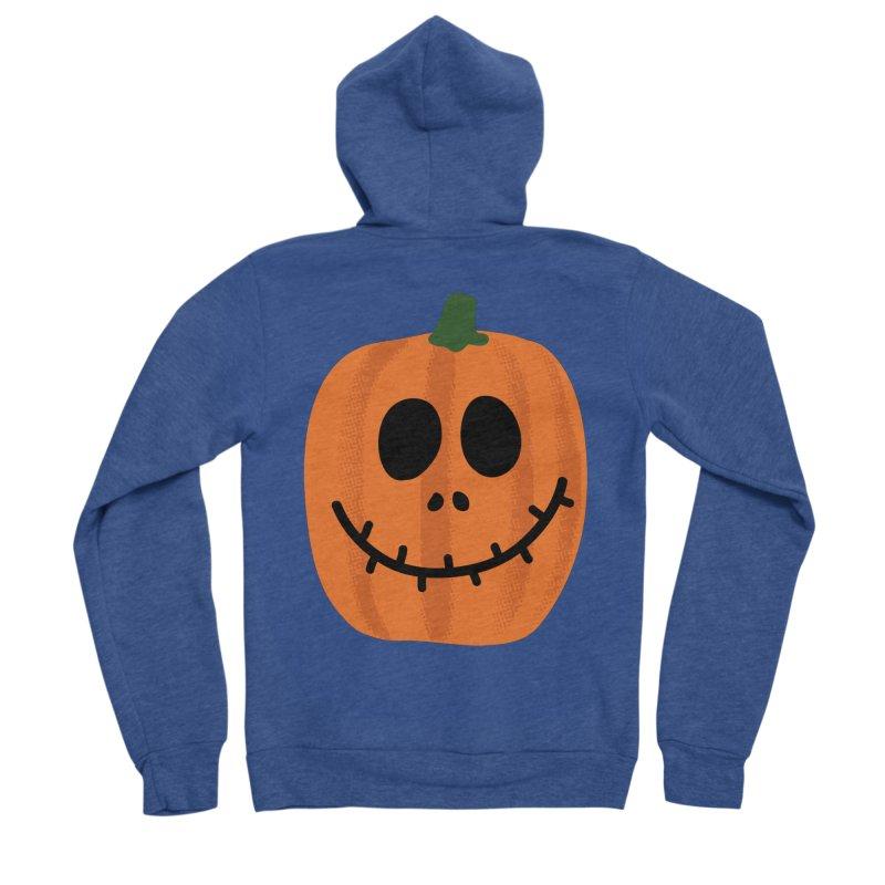 Happy Pumpkin Men's Sponge Fleece Zip-Up Hoody by Illustrations by Phil