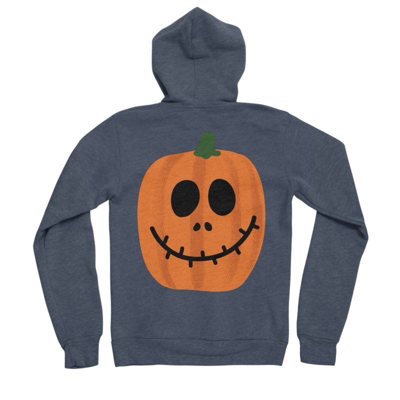 Happy Pumpkin Women's Sponge Fleece Zip-Up Hoody by Illustrations by Phil