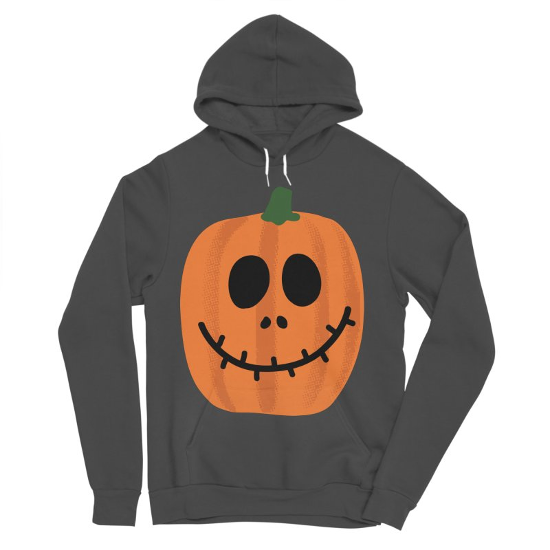 Happy Pumpkin Women's Sponge Fleece Pullover Hoody by Illustrations by Phil