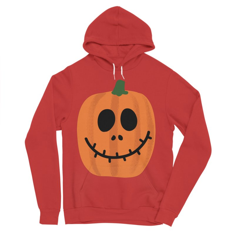 Happy Pumpkin Women's Sponge Fleece Pullover Hoody by Illustrations by Phil
