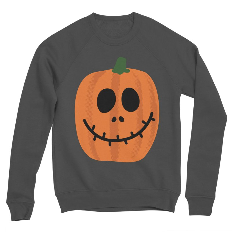 Happy Pumpkin Men's Sponge Fleece Sweatshirt by Illustrations by Phil
