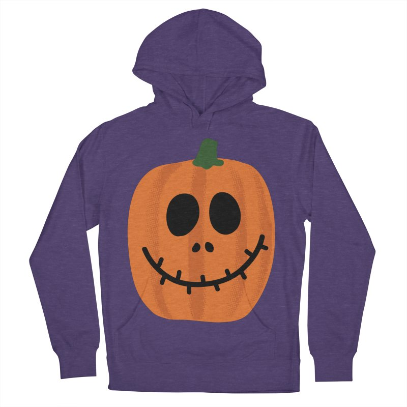 Happy Pumpkin Men's French Terry Pullover Hoody by Illustrations by Phil