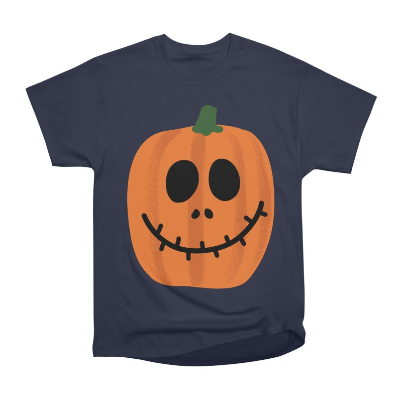 Happy Pumpkin Women's Heavyweight Unisex T-Shirt by Illustrations by Phil