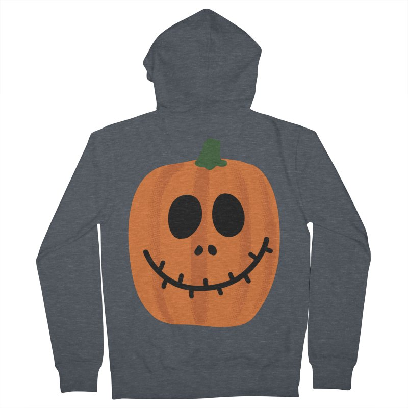 Happy Pumpkin Women's French Terry Zip-Up Hoody by Illustrations by Phil