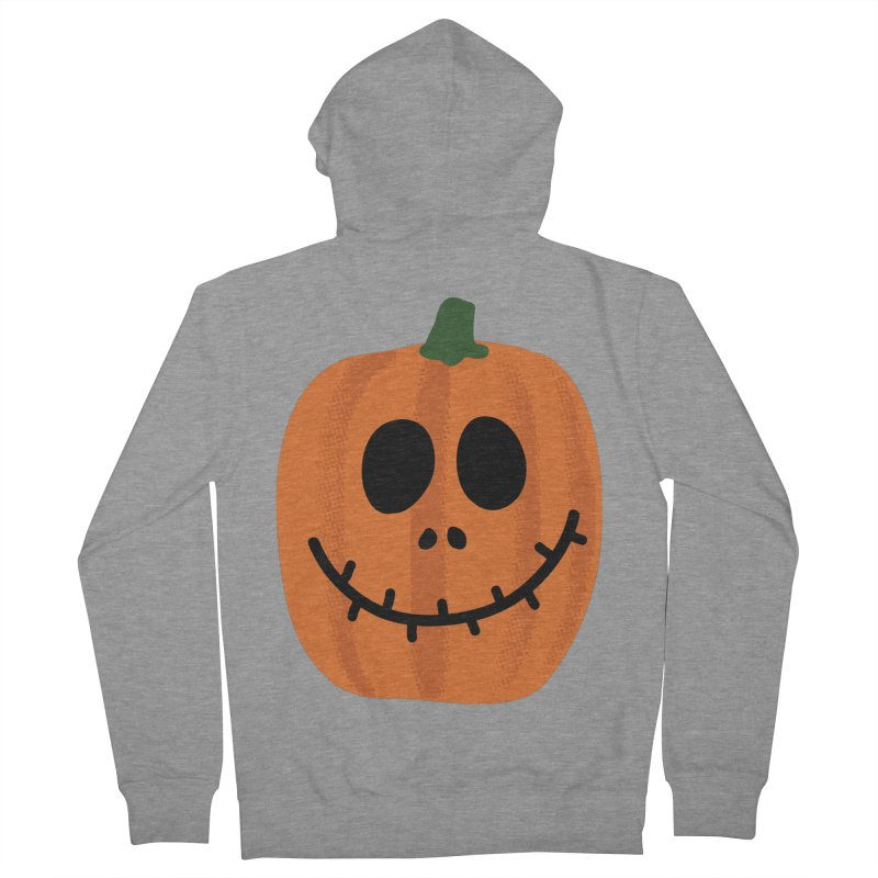 Happy Pumpkin Men's French Terry Zip-Up Hoody by Illustrations by Phil