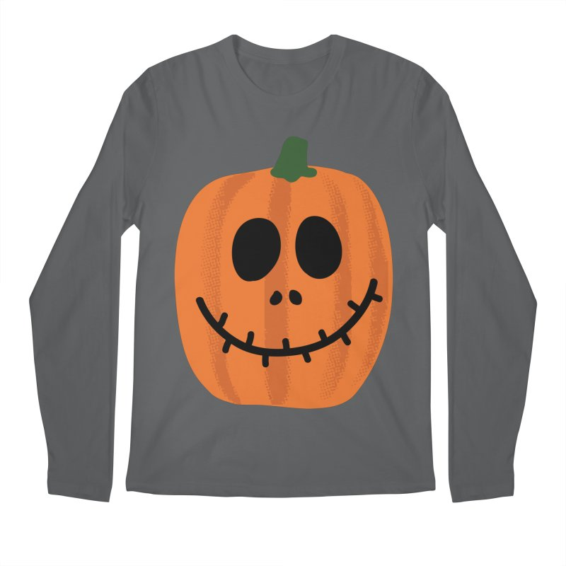 Happy Pumpkin Men's Regular Longsleeve T-Shirt by Illustrations by Phil