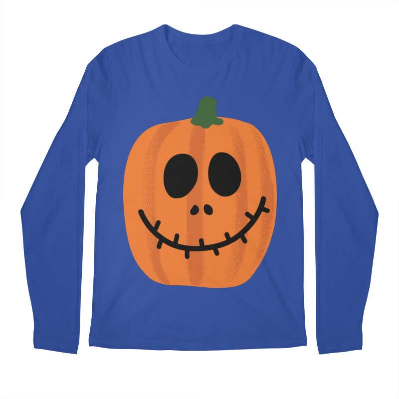 Happy Pumpkin Men's Regular Longsleeve T-Shirt by Illustrations by Phil