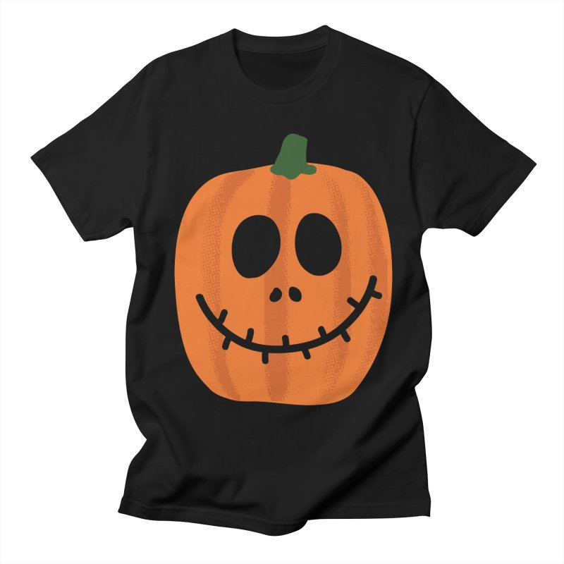 Happy Pumpkin Men's Regular T-Shirt by Illustrations by Phil