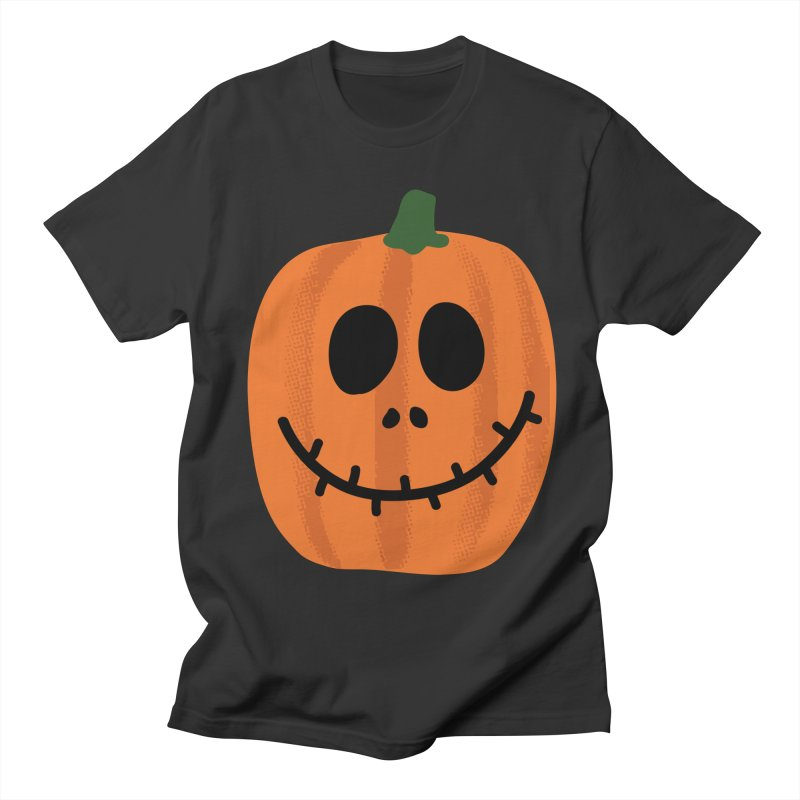 Happy Pumpkin Women's Regular Unisex T-Shirt by Illustrations by Phil