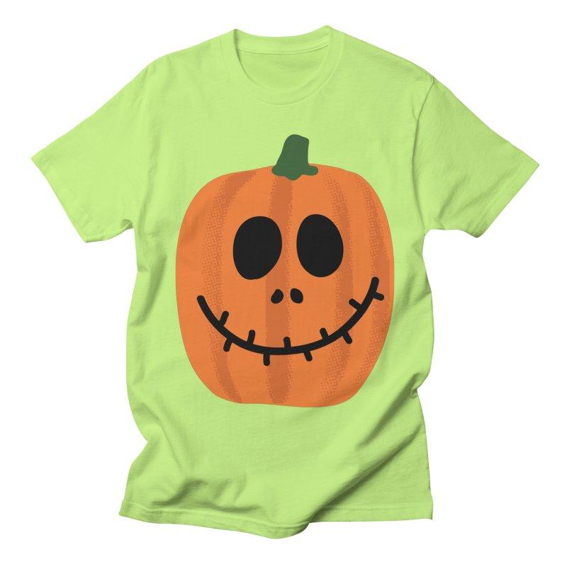 Happy Pumpkin Men's Regular T-Shirt by Illustrations by Phil