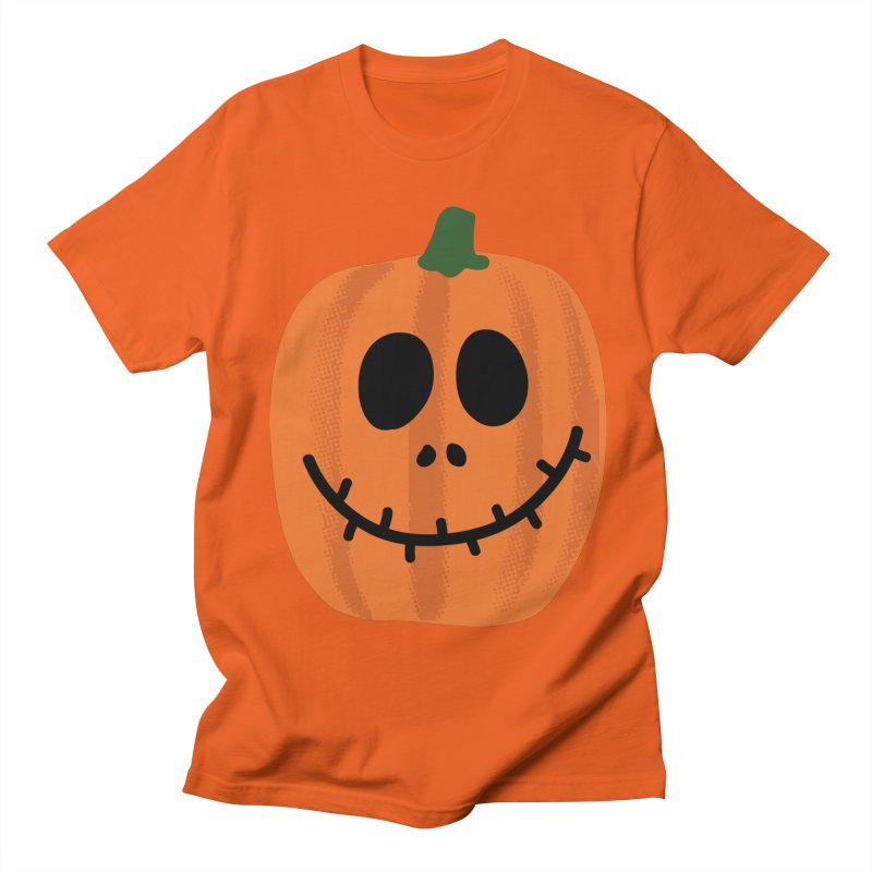 Happy Pumpkin Women's Regular Unisex T-Shirt by Illustrations by Phil