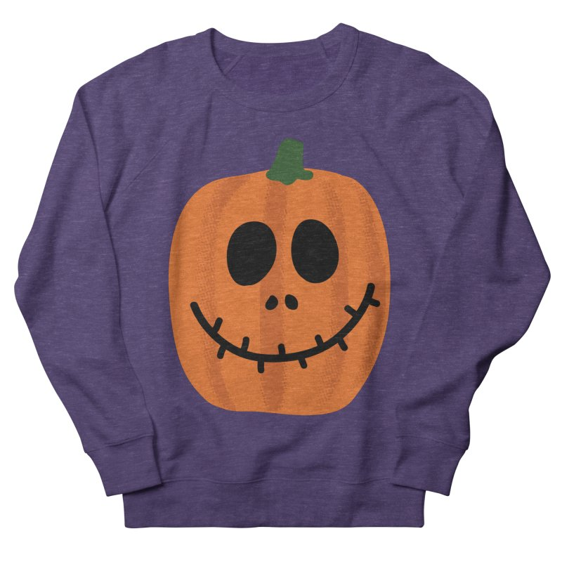 Happy Pumpkin Women's French Terry Sweatshirt by Illustrations by Phil