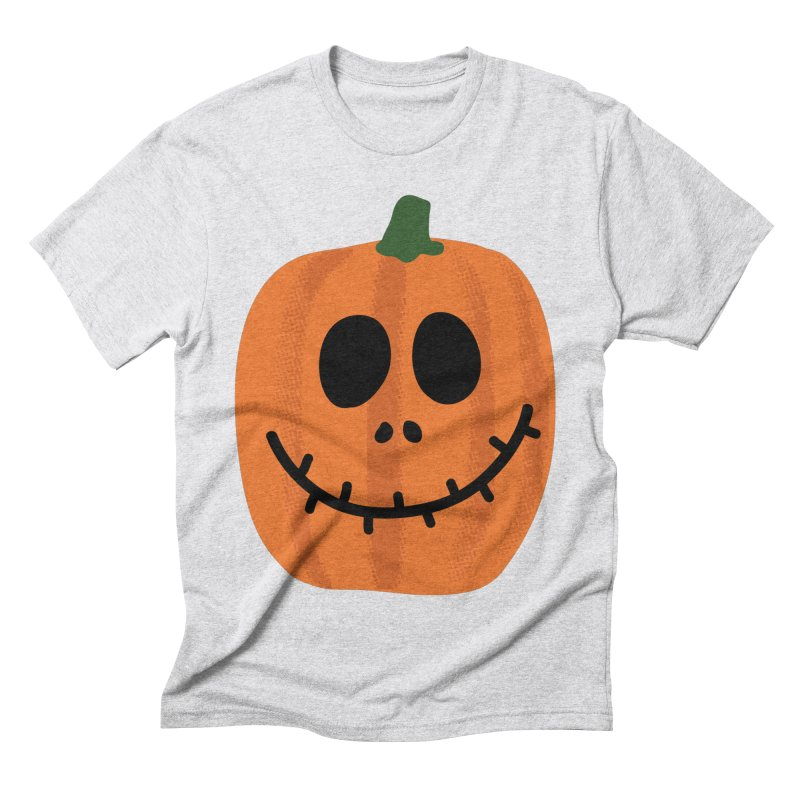 Happy Pumpkin Men's Triblend T-Shirt by Illustrations by Phil
