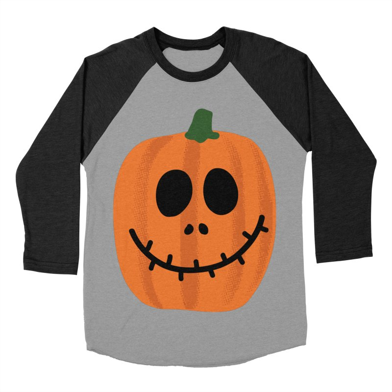 Happy Pumpkin Women's Baseball Triblend Longsleeve T-Shirt by Illustrations by Phil