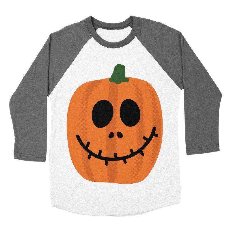 Happy Pumpkin Men's Baseball Triblend Longsleeve T-Shirt by Illustrations by Phil