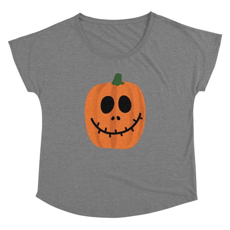 Happy Pumpkin Women's Dolman Scoop Neck by Illustrations by Phil