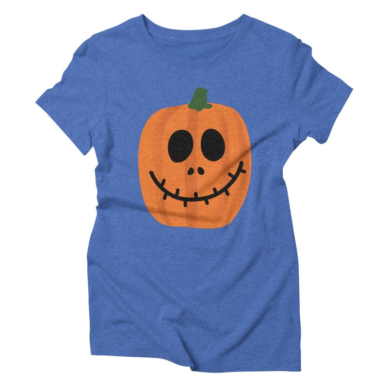 Happy Pumpkin Women's Triblend T-Shirt by Illustrations by Phil