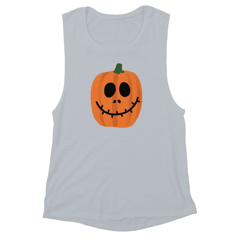 Happy Pumpkin Women's Muscle Tank by Illustrations by Phil