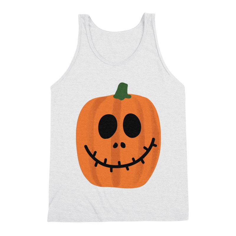Happy Pumpkin Men's Triblend Tank by Illustrations by Phil