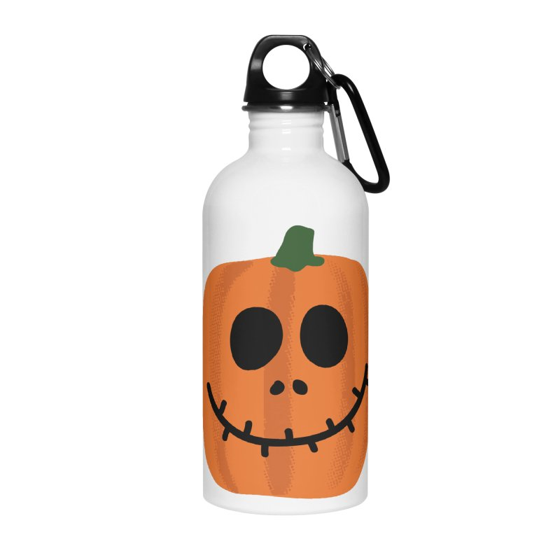 Happy Pumpkin Accessories Water Bottle by Illustrations by Phil