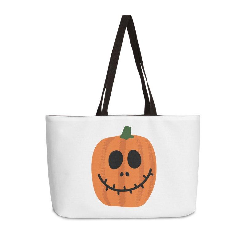 Happy Pumpkin Accessories Weekender Bag Bag by Illustrations by Phil