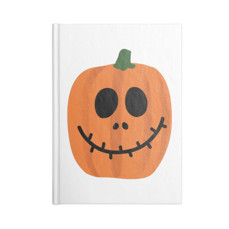 Happy Pumpkin Accessories Blank Journal Notebook by Illustrations by Phil
