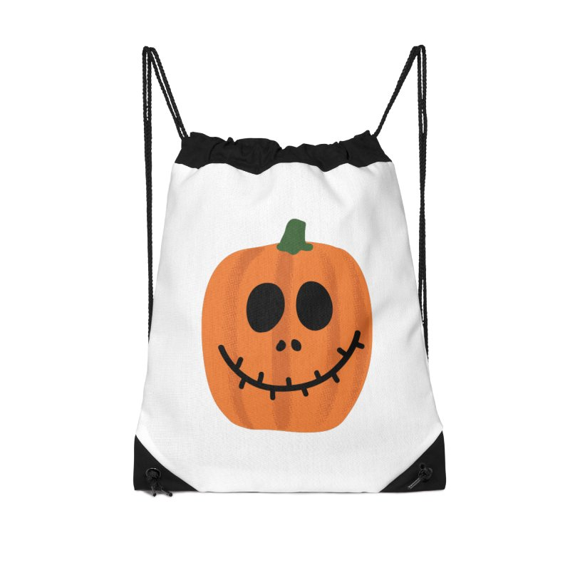 Happy Pumpkin Accessories Drawstring Bag Bag by Illustrations by Phil