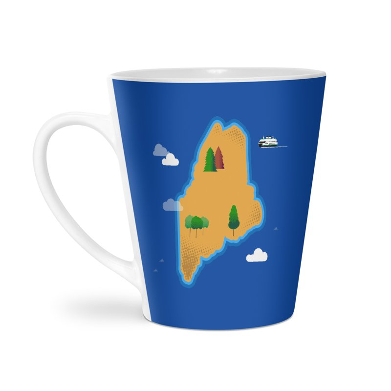 Maine Island Accessories Latte Mug by Illustrations by Phil